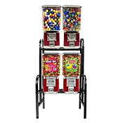 VendPro Classic Square Head 4 Unit Candy & Gumball Vending Machine Rack
