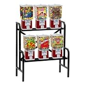 VendPro Classic Square Head 6 Unit Candy & Gumball Vending Machine Rack