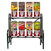 VendPro Classic Square Head 8 Unit Candy & Gumball Vending Machine Rack