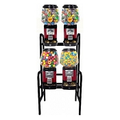 Ultra Classic 4 Unit Bulk Candy & Gumball Vending Machine w/Locking Cash Drawer Rack