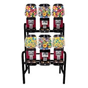 Ultra Classic 6 Unit Bulk Candy & Gumball Vending Machine w/Locking Cash Drawer Rack