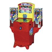 Play More Action Style Gumball Pinball Game Machine w/Side Vendors