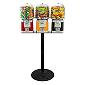 VendPro Classic Barrel Three Head  (ABS Body) 15-inch Candy & Gumball Machine w/Husky Stand