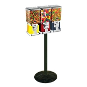 VendPro Classic Square Three Head  (ABS Body) 15-inch Candy & Gumball Machine w/Husky Stand