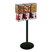 VendPro Classic Square Three Head  (Metal Body) 15-inch Candy & Gumball Machine w/Husky Stand