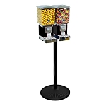 VendPro Premium Dual Square Head Candy & Gumball Machine w/Cash Drawer & Monster Stand