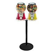 VendPro Premium Classic Dual Head Big Bubble Globe 16-inch Candy & Gumball Vending Machine w/Husky Stand