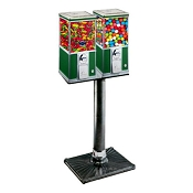 Northern Beaver Dual Head 20-inch Bulk Candy, Gumball & Toy Capsule Machine w/BS250 Stand