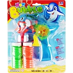 Light-Up Dolphin Crank Handle Bubble Shooter - 12 Pieces per Box