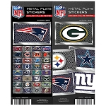 NFL License Plate Team Stickers (In Folders) 300 Count Box