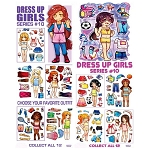 Dress Up Girls Series #10 Stickers (In Folders) 300 Count Box