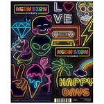 Neon Sign Stickers (In Folders) 300 Count Box