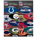 NFL Logo Football Stickers (In Folders) 300 Count Box