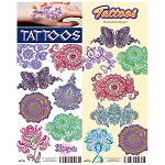Henna Colors Tattoos (In Folders) 300 Count Box