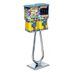 Beaver Square Two Head 16-inch Bulk 1-inch Toy Capsule Vending Machine w/Heavy Duty Stand