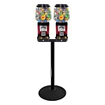 Ultra Classic Two Head Bulk 1-inch Toy Capsule Vending Machine w/Secure Cash Drawer & Retro Stand
