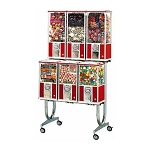 Beaver BS800-B37 - 6 Unit Toy Capsule, Candy, Gumball & Bounce Balls Vending Machine Rack