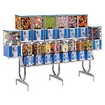 Beaver BS800-2B33W - 16 Unit Toy Capsule, Candy & Gumball Combo Vending Machine Rack
