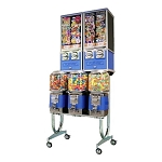 Beaver BS800-A33 - 5 Unit Bulk Candy, Gumball, Toy Capsule & Sticker Combo Vending Machine Rack