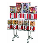 Beaver BS800-C33-2 - 9 Unit Toy Capsule, Candy, Gumball & Bounce Balls Vending Machine Combo Rack