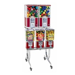 Beaver BS800-A33 - 5 Unit Toy Capsule, Candy, Gumball & Bounce Balls Vending Machine Rack