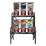 VendPro 6 Unit Bulk 1-inch Toy Capsule, Candy, Gumball & Bounce Ball Vending Machine Rack