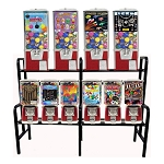VendPro Retro 10 Unit Toy Capsule, Candy, Gumball & Bounce Balls Vending Machine Rack