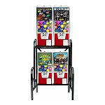 VendPro Super 20/25 4 Unit Toy Capsule, Chicken Egg & Bounce Balls Vending Machine Rack