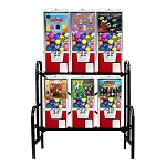 VendPro 20/25 6 Unit 2-inch Toy Capsule, Chicken Egg & Bounce Ball Vending Machine Rack