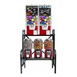 VendPro Classic 5 Unit Toy Capsule, Candy, Gumball & Bounce Balls Vending Machine Rack