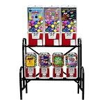 VendPro Classic 7 Unit Toy Capsule, Candy, Gumball & Bounce Balls Vending Machine Rack