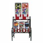 VendPro Retro 5 Unit Toy Capsule, Candy, Gumball & Bounce Balls Vending Machine Rack
