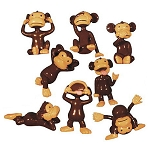 Monkeyin' Around Figurines (Non-Capsulated - Bulk Bin Toys) 300 Count Box
