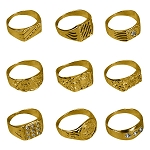 Polished Gold-Toned Rings (Non-Capsulated - Bulk Bin Toys) 300 Count Box