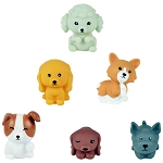 Rubber PuppyPalz Dogs - Assorted 2in-3in  (Non-Capsulated Bulk Bin Toys) 200 Count Box