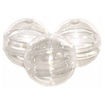 2.3-inch (58mm) Empty Round Capsules (Clear Bottoms - Clear Tops) 2,000 Count Case