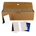 Chipboard Folders for Stickers & Tattoos (3-inch x 4.5-inch folded) 3,000 Count Case