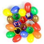 Deluxe Gold Egg Mix (Toy Filled Plastic Eggs) 300 Count Box