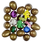 Fortune Gold Egg Collection (Toy Filled Plastic Eggs) 300 Count Box