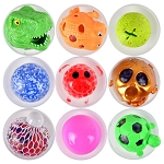 3.0-inch Capsule - Squeeze & Squishy Mix Redemption Prize Ball Kit - 144 Count Case