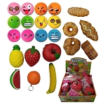 Medium 4-inch - 7-inch Squeeze Squishy Toy Mix - 24 Pieces per Box