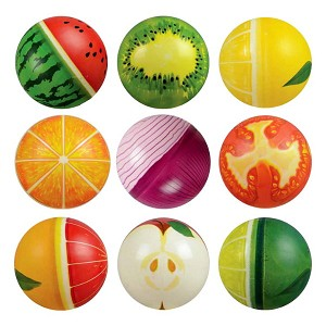6-inch Inflatable Printed Fruit & Veggie Balls