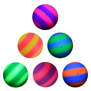 6-inch Inflatable Two-Color Rainbow Balls
