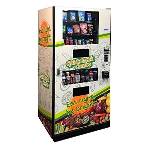 Quick Break QB218 (21 Selection Snack - 8 Selection Drink) Healthy Snack & Drink Combo Vending Machine