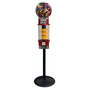 Spin & Whirl Gumball Vending Machine w/Heavy Duty Husky Stand