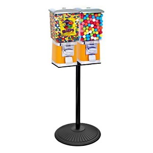 VendPro Classic Square Two Head  (ABS Body) 15-inch Candy & Gumball Machine w/Husky Stand