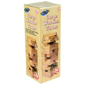 Large 48 Piece Wooden Tower Game