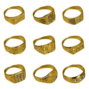 Polished Gold-Toned Rings